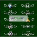 สติกเกอร์3มิติแต่งรถ CUTE ANGLE FAIRY WINGS 3D STICTER Auto Car Logo Emblem Badge Decal Silver